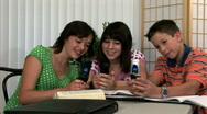 School kids phones 3 Stock Footage