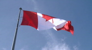 Canadian Flag 1 Stock Footage