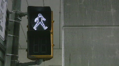 Crosswalk signal Stock Footage