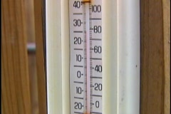 Tilt on Thermometer Temperature Weather Conditions  Stock Footage