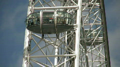 London Eye Millennium Wheel London England UK Stock Footage