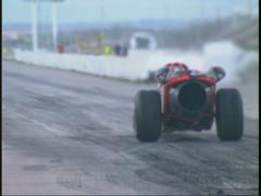 motorsports, jet car launch, long shot, flames and then Smoke! - stock footage