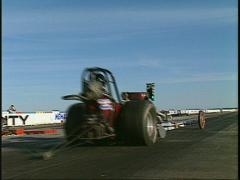 Motorsports, Drag race old school drag race launch Stock Footage