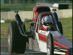 Motorsports, Dragster supercomp drag burnout Stock Footage