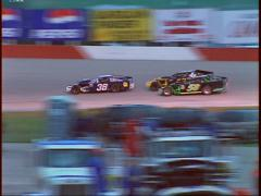 Motorsports, IMCA race from starters cage spin Stock Footage