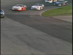 motorsports, WRL stock car race from starters cage - stock footage