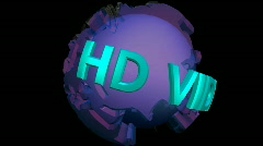 HD video stinger with ray vfx Stock Footage