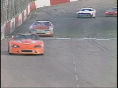 motorsports, WRL stock car race into corner - stock footage
