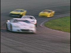 motorsports, WRL stock car race in corner  - stock footage