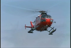 aircraft, coast guard helo hover, #1 cu - stock footage