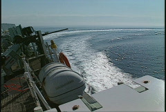 Military, navy, Frigate high speed turn Stock Footage