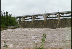 Flooding at dam, #2 Stock Footage