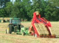 Farmer Square Baling Hay Footage