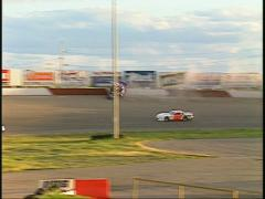 Motorsports, late model stock car race wreck Stock Footage