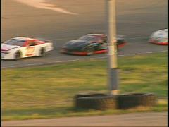 motorsports, WRL  late model stock car race fast - stock footage