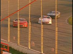 Motorsports, late model stock car race from the stands Stock Footage