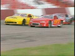 Motorsports, late model stocks race follow Stock Footage