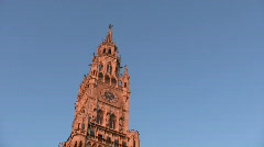 Germany Munich New town hall Rathaus Stock Footage