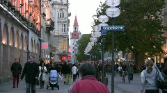 Germany Munich pedestrians zone environment car-free Stock Footage