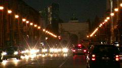 Germany Munich Leopoldstrasse traffic at dusk Stock Footage