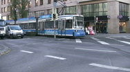 Stock Video Footage of Germany Munich street tram