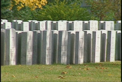 War graves zoom back Stock Footage