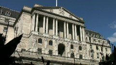 Bank of England in Threadneedle Street in London England UK - stock footage