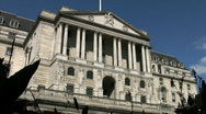 Bank of England in Threadneedle Street in London England UK Stock Footage