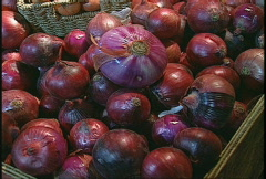 Food, red onions Stock Footage