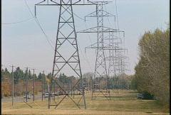Power pylons Stock Footage