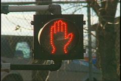 Walk don't walk traffic sign Stock Footage