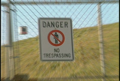 Sign, danger no trespassing, #1 Stock Footage