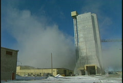 Industrial plant steam in winter, #4 Stock Footage