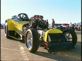 Stock Video Footage of  motorsports, drag racing, yellow Top fuel altered walkabout