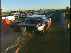 motorsports, drag racing, vette promod launch out of control Stock Footage