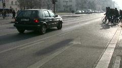 Germany Munich Traffic in Leopoldstrasse Stock Footage