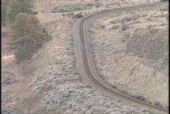 railroad, rail track long lens - stock footage