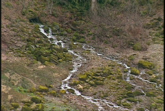 River and waterfall, stream to muddy Fraser river Stock Footage