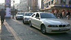 Germany Munich Taxi stand at Viktualienmarkt Stock Footage
