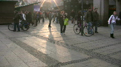 Germany Munich, shopping center Stock Footage