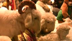 Germany Munich Christmas fair cute toy Stock Footage