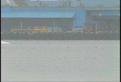 Ship's bow through frame Stock Footage