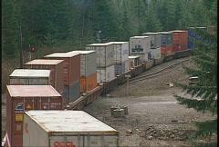 Railroad, intermodal container train, #1 Stock Footage