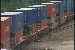 Railroad, intermodal container train, #2 Stock Footage