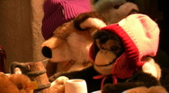 Stock Video Footage of Germany Munich Christmas fair cute toy
