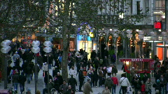 Germany Munich pedestrians zone a shopping area Stock Footage