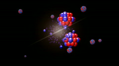 HD-Nuclear Fission Closeup Animation Stock Footage