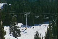 Skilift long lens Stock Footage