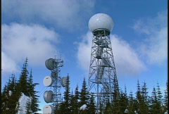 Doppler radar, #2 and microwave Stock Footage