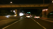 Stock Video Footage of Highway night drive. Timelapse.